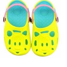 Летние детские сандалии на деревянной подошве г. милые детские Нескользящие красивые тапочки модные пляжные сандалии для мальчиков с головой тигра Лидер продаж