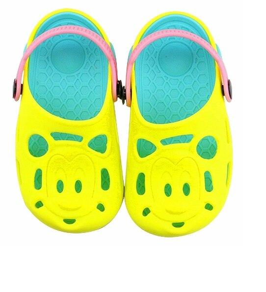 Summer Children Hole Clogs sandals 2018 Cute Baby Non-slip outdoor Cool Slippers Fashion Tiger head beach boys sandal hot sale