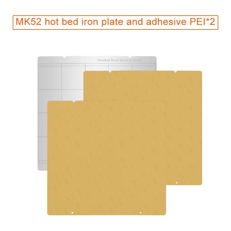 Tôle D'acier à ressort Chaleur Lit Plate-Forme Buildplate + 2 pièces Feuille de PEI Pour Prusa i3 Mk3 Mk2.5