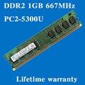 Пожизненная гарантия для samsung DDR2 1 ГБ 667 мГц PC2-5300U 667 DDR 2 1 г настольных памяти RAM 240PIN оригинальной аутентичной