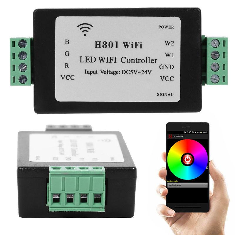 LED Bande Lumière Lampe H801 WiFi Contrôleur Android Téléphone WLAN Routeur de Commande Nouveau