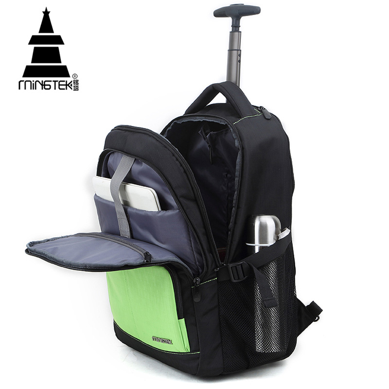 Travel Bag Rolling Luggage Laptop Duffle Bag On Wheels High Quality 30L Trolley 14 15 17 inch  Unisex Oxford Waterproof Backpack