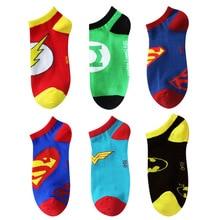 Marvel superman Captain America cos socks Avengers fashion cotton short green men women cartoon Harajuku street