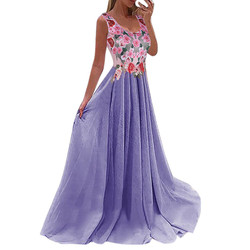 Kobiety koronka aplikacja elegancki koral sukienki biurowe maxi sukienki dla kobiet na wesele sukienka sukienka 2