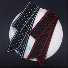 Silk Bandana Dot Print Foulard for Women Long strip Scarf Small  Neck Decoration Headband 2019 NEW Size:100cm*5cm