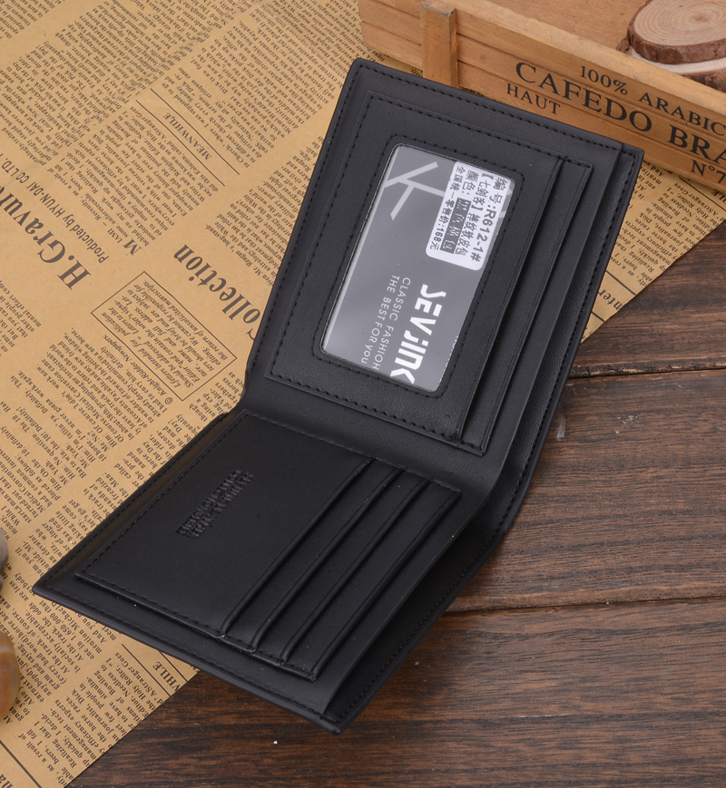 2017 homens do vintage carteiras The Material : Leather Wallet/this IS a Leather Wallet But Not 100% Genuine Leather