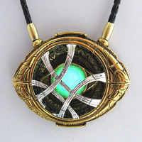 WANJIE SHIPIN  71mm*58mm Cosplay Doctor Strange Necklaces  Halloween Christmas gift Alloy Agamotto Necklaces Luminous
