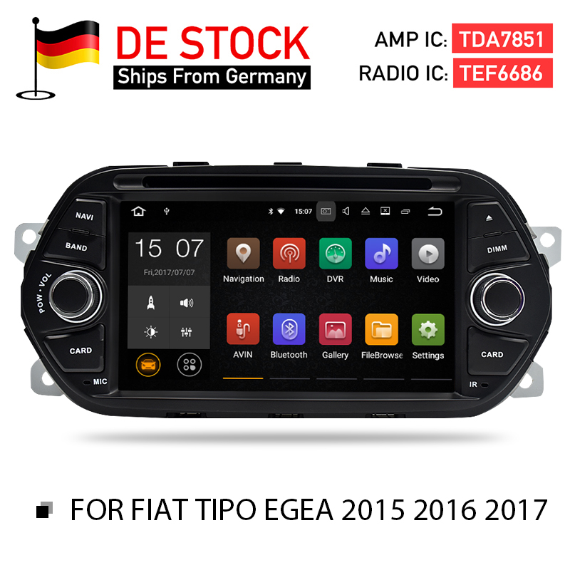 Android 7,1 8,0 2 г 4 г Оперативная память dvd-стерео головного устройства для Fiat Tipo Egea 2015 2016 2017 авто радио gps навигации флэш 16 г 32 г