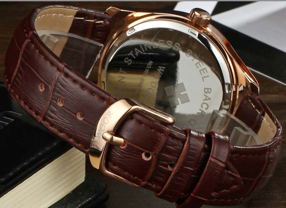 New Quartz Mens Watches Top Brand Luxury Complete Calendar Men\'s Wrist Watch Genuine Leather Strap Men Wristwatches  2019 (7)