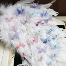 10PC Multicolor Organza Butterfly Lace Patch Double Layer Embroidered Applique DIY Wedding Headdress Clothing Accessories RS1610(China)
