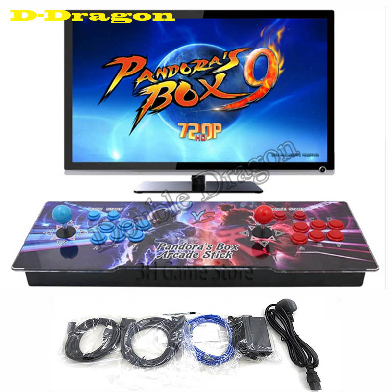 Pandora box 9 Retro Video Arcade Game Console with games 1500 in 1 VGA HDMI Output and 8 Buttons