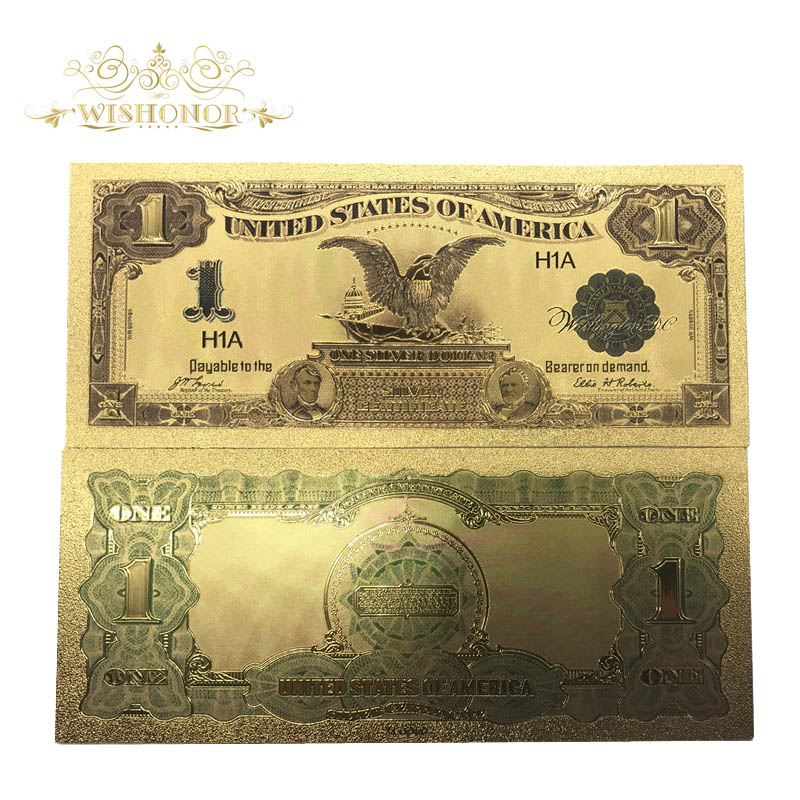 100pcs/Lot Colored 1899's American Gold Banknote USD 1