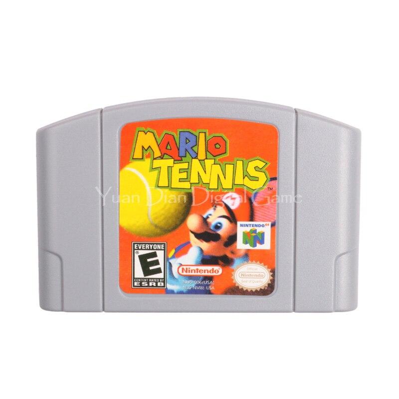 Cartucho de juego de nintendo n64 video consola tarjeta mario tenis versión en i