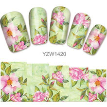 2018 New Models, Watermark Stickers, Chrysanthemums, Small Fresh Nail Applique, Stickers.Hot Selling Goods YZW1420