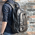 Newest Fashion Leather Backpck Punk Motorcycle bag Vintage waterproof PU Shouder bag unisex mochilas travel bags men sport bags