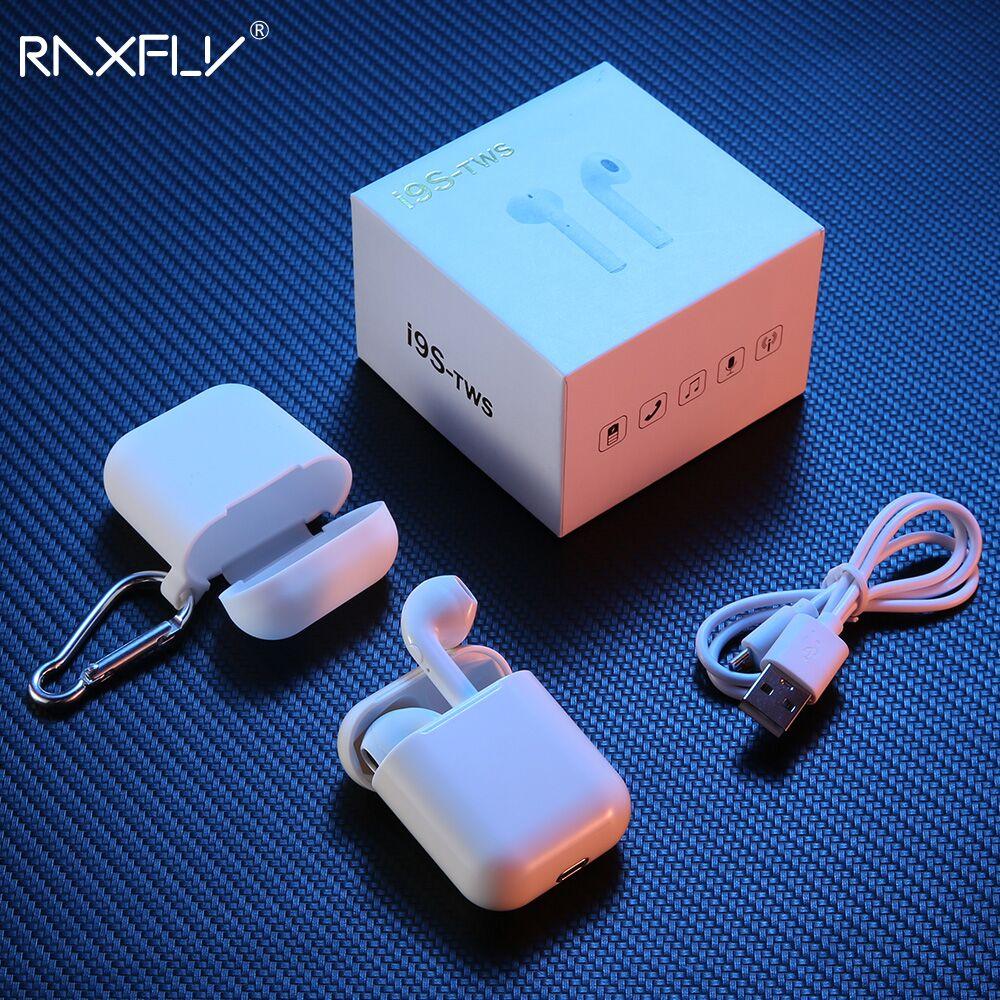 RAXFLY i9s TWS Auricolare Bluetooth Senza Fili Mini Bluetooth Cuffia Auricolare In-Ear Per Aria baccelli Con Casella di Ricarica Microfono 3D Stereo