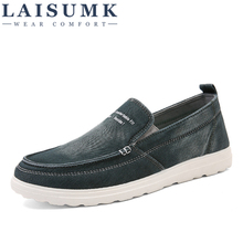 2019 LAISUMK New Style Men Casual Shoes Loafers High Quality Men Shoes Canvas Male Footwear Comfortable Flat Shoes
