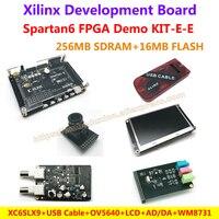 FPGA Demo Board Xilinx Spartan6 XC6SLX9 256M SDRAM Camera USB Cable 4 3 Inch LCD AD