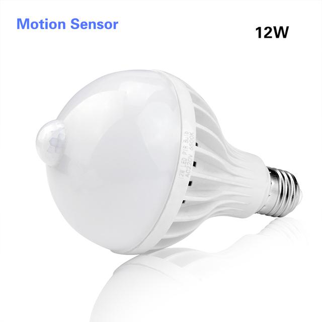 3W 5W 7W 9W 12W E27 220V LED Bulb Smart Sound / PIR Motion Sensor LED lamp light Induction Stair Hallway Night light white