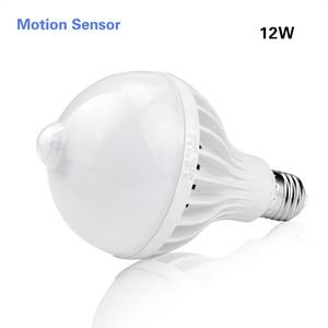 Image 2 - لمبة LED 3 وات 5 وات 7 وات 9 وات 12 وات E27 220 فولت صوت ذكي/مستشعر حركة PIR لمبة LED ضوء تحريض درج المدخل ضوء ليلي أبيض