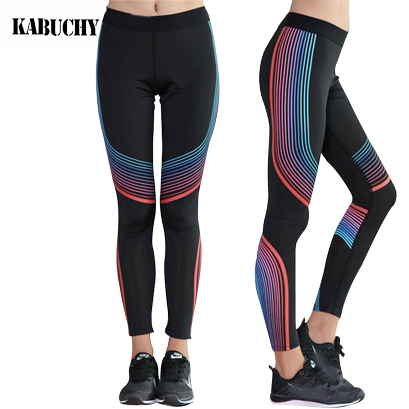 c5720528134c6 Women Compression Yoga Pants Gear Sports Exercise Tights Female Fitness  Running Long Jogging Trousers Gym Slim Leggings