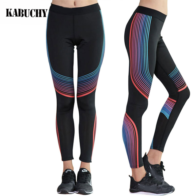 41da28449d Women Compression Yoga Pants Gear Sports Exercise Tights Female Fitness  Running Long Jogging Trousers Gym Slim Leggings
