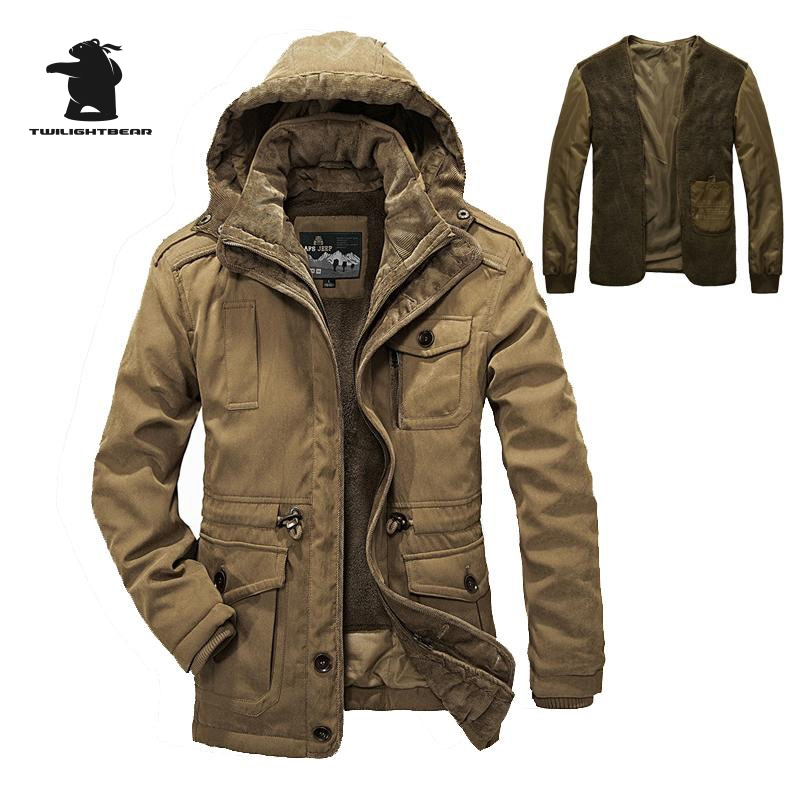 High Quality Brand Casual Cotton Lined Jacket Thickening New Fashion Winter Jacket Men Free Warm Coat