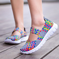 Women Shoes 2017 Summer Breathable Fashion Lady's Casual Shoes Lace up Girls Handmade Women Woven Shoes