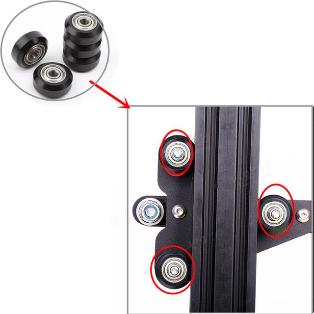 Mayitr 1pc Carbon Steel Wheel Pulley Deep Groove Ball Bearings For Creality 3D Printer CR-10 CR-10S