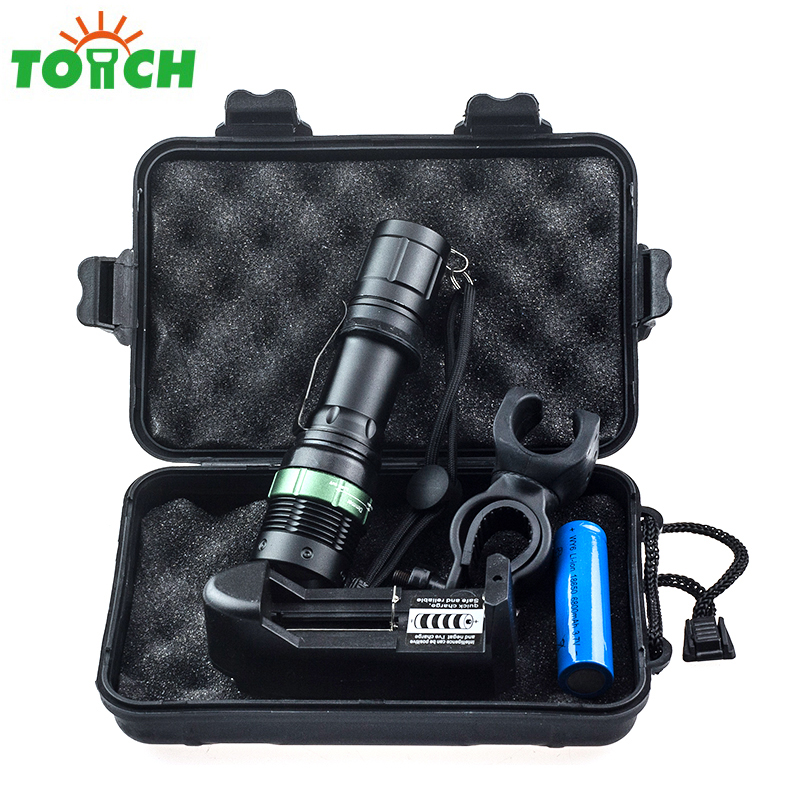 Q5 3 Mode Tactical Zoomable Led Flashlight 18650 Rechargeable Lampe Torche Powerful Wrist Strap Searchlight for Working Hunting ultrafire m3 t60 3 mode 910 lumen white led flashlight with strap black 1 x 18650