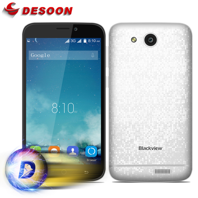 Blackview A5 Android 6.0 3G Smartphone 4.5 inch MTK6580 Quad Core 1.3GHz 1GB RAM 8GB ROM Dual Cameras Bluetooth 4.0 Mobile Phone
