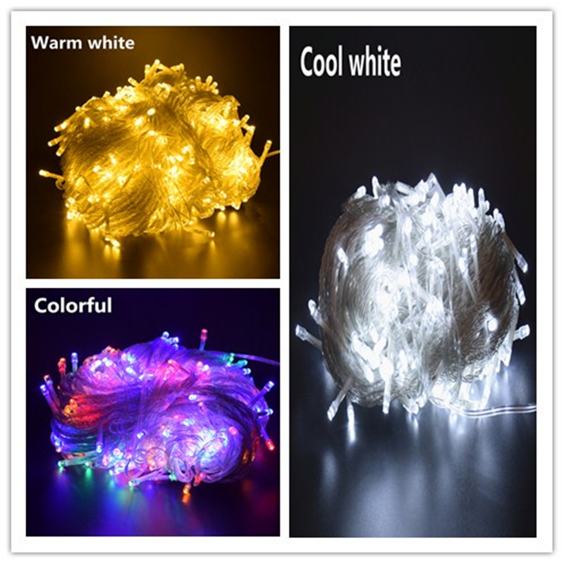 AIFENG outdoor LED String Lights 10M/20M/30M/50M/100M 100/200/400/500 LEDs Christmas light string Party Decorations Garland