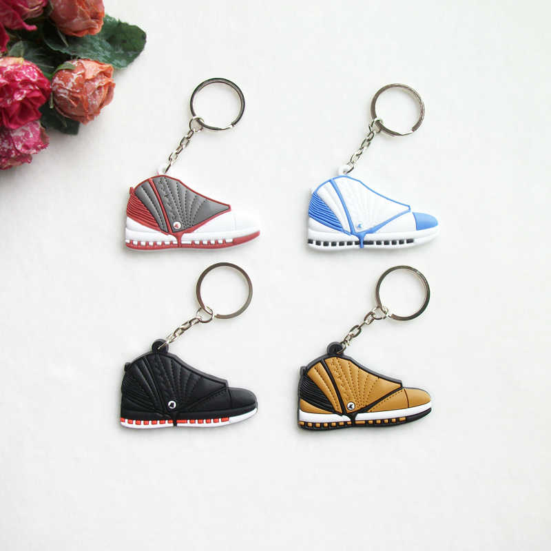 ed6e0b7991a4 Mini Silicone Sneaker Jordan 16 Keychain Key Chain Shoes Car Key Holder  Woman Men Bag Charm