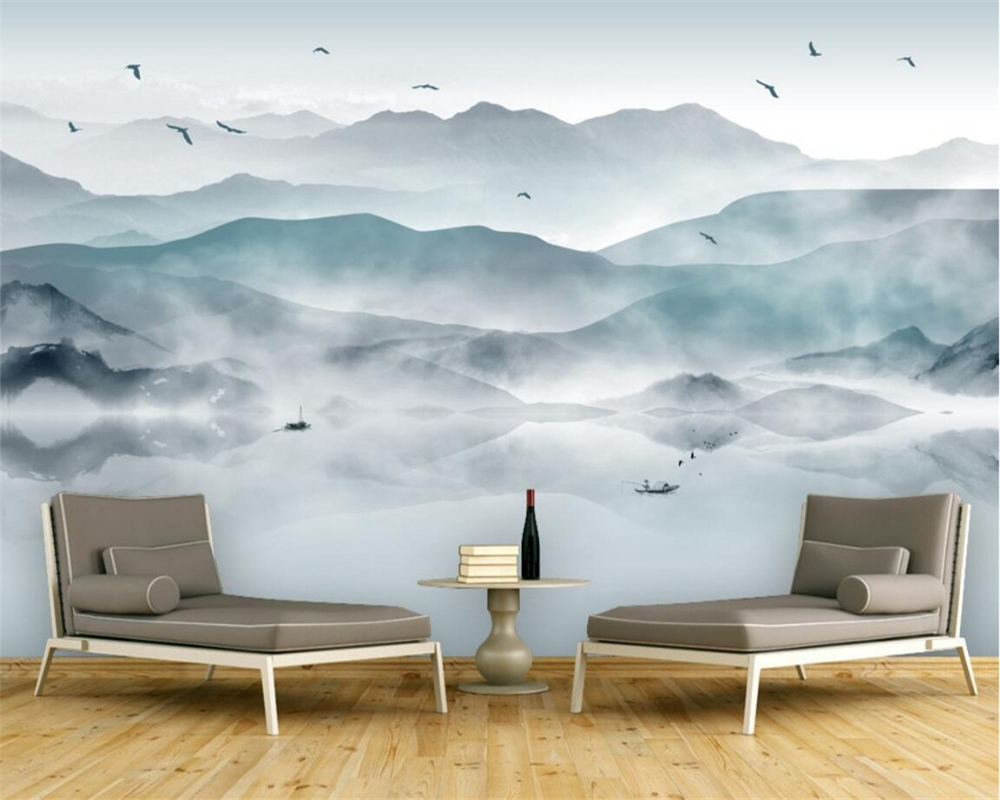 Beibehang Custom Photo Wall Mural 3d Wallpaper Luxury: Beibehang Custom Wallpaper Nature Mountain Scenery, 3D