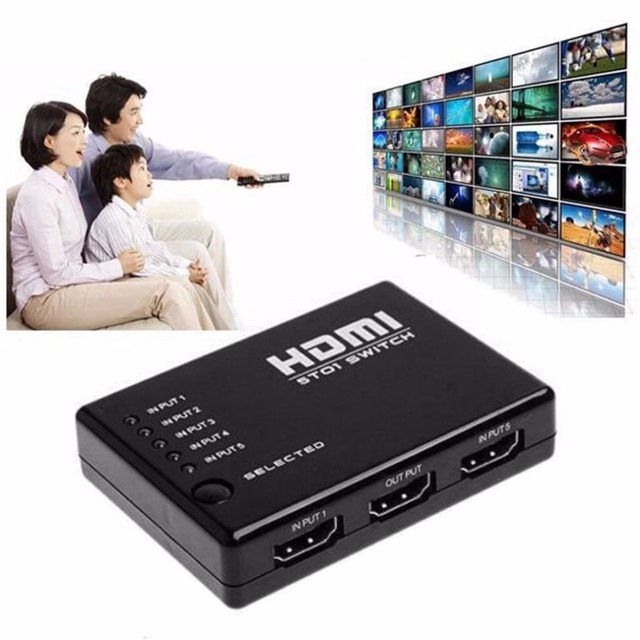 ONLENY Portable 5 In 1 1.4 Version 1080P HDMI Switch Switcher HD Video Support