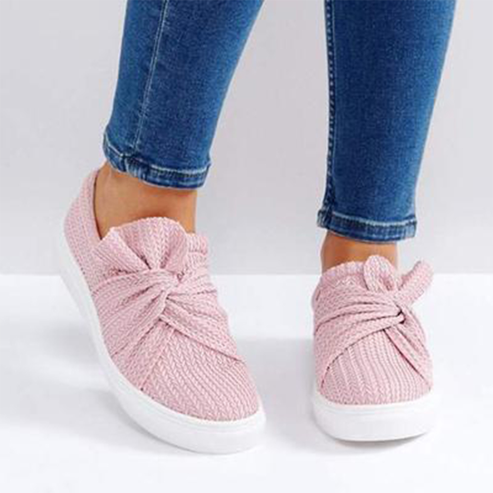Female Footwear Loafers Flats-Slip Shoe-Fashion Canvas Women Sneakers Autumn Breathable