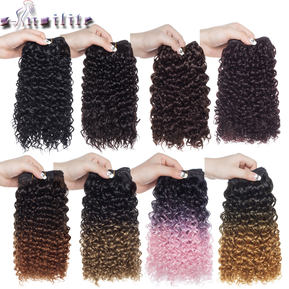S-noilite 8 Inch 20cm Deep Wavy Hair Weaving Synthetic Hair Bundles Weave Extensions 120g Water Weave Braid Hairpiece Brand New