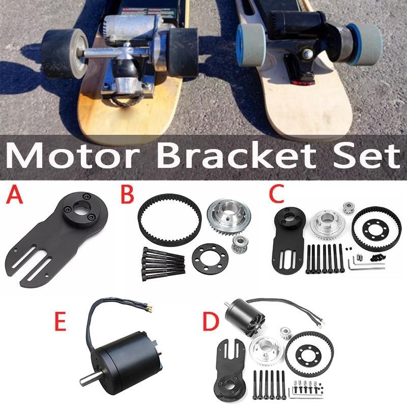 5M Belt Electrical Skateboard Accessories Synchronizing Wheels Motor Bracket Set Gear Belts Kit Punch Machine Motor Mount Parts