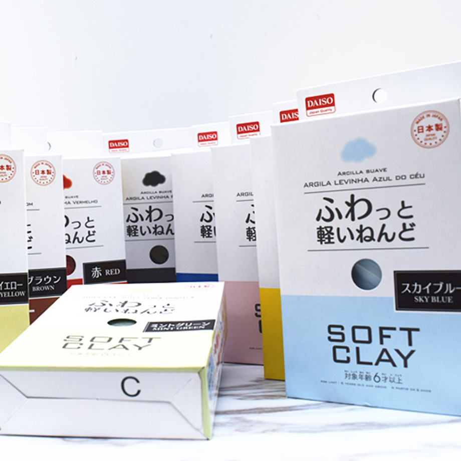 Japan DAISO Slime Diy Toys Fluffy Soft Super Light Modeling Air Dry Clay Blue Coffee Pink Red White Model Plastilina PlasticineJapan DAISO Slime Diy Toys Fluffy Soft Super Light Modeling Air Dry Clay Blue Coffee Pink Red White Model Plastilina Plasticine