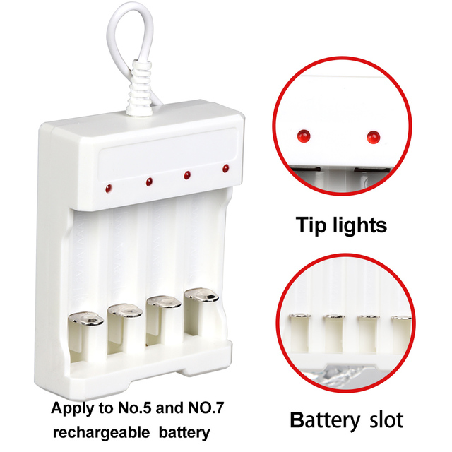1 PC 1.2V Universal 4 Slot AA/AAA Rechargeable Battery Charger Adapter USB Plug Consumer Electronics Usb Plug Charger 2