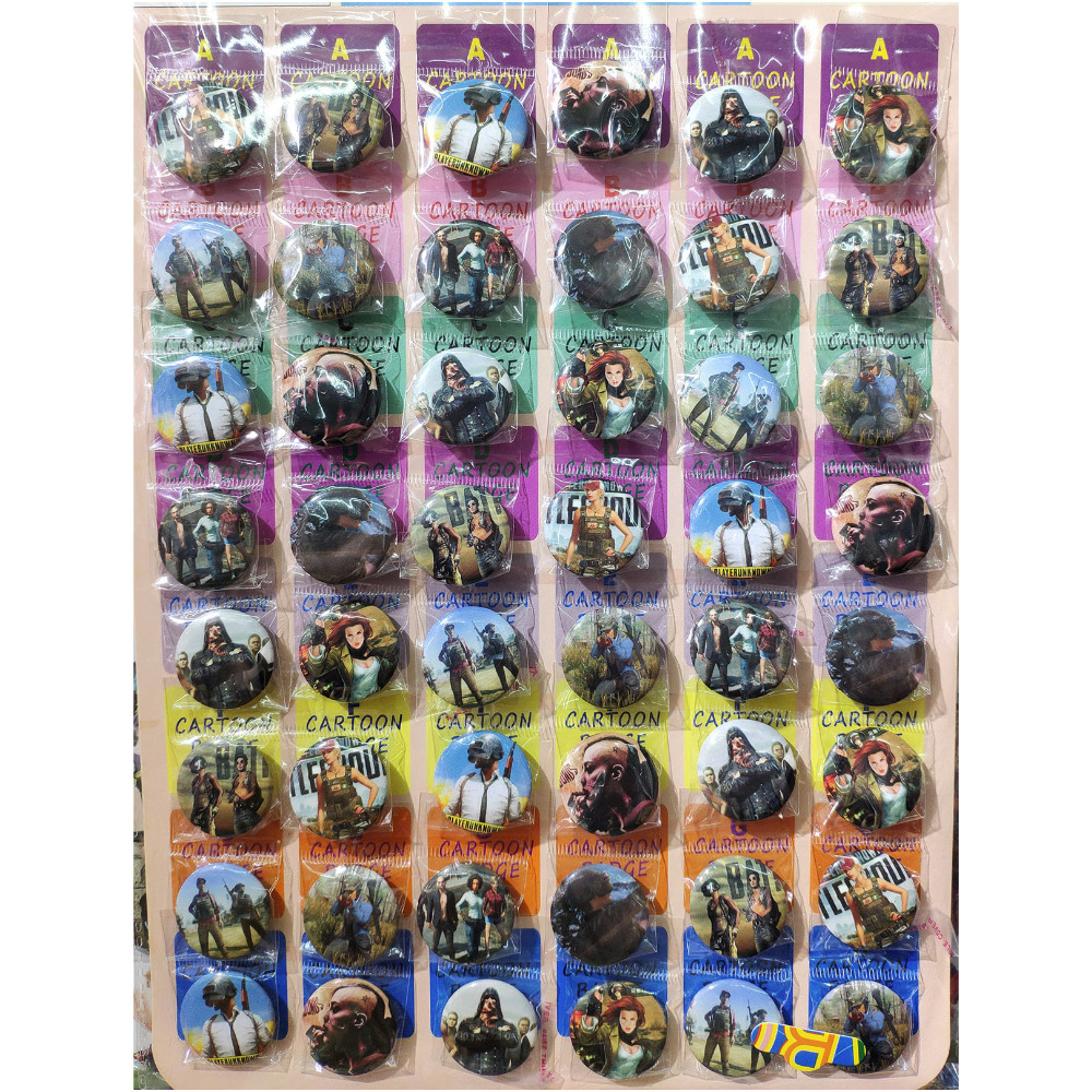 Love Thank You PUBG 30MM 48pcs lot PINBACK BADGE BUTTON BROOCH BAG GIFT TOY CLOTH anime PLAYER UNKNOWNS BATTLE GROUNDS