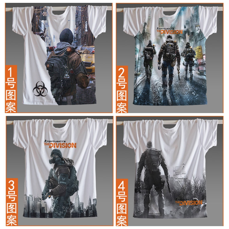 Classic Great Video Game Women Men Jersey Short Sleeve Tom clancys the division T Shirt Cosplay Game fans Skateboard Plus Size
