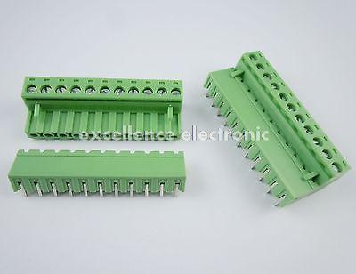 50 Pcs 5.08mm Pitch Right Angle 11 pin 11 way Screw Terminal Block Plug Connector 2EDG 50pcs 5 08mm pitch right angle 10 pin 10 way screw terminal block plug connector 2edg