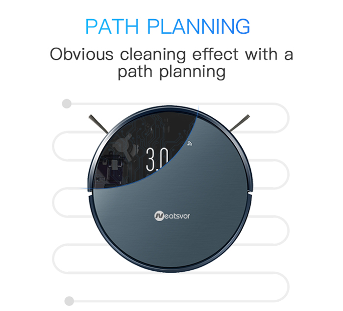 NEATSVOR X500 1800PA Robot Vacuum Cleaner for Wet or Dry Mopping with Map Navigation and Anti Collision Feature 14