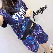 Korean Style Summer Short Sleeve Top with Shorts Women s Pajamas Set Ladies Cute Sleepwear Female