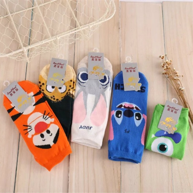 Summer Women Socks Tiger Rabbit Cute Kawaii Cotton Cartoon Casual Funny Socks Comfortable  Japanese Harajuku Acrylic New
