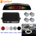 4 Parking Sensor Digital LED Parking Assistance Set Sound Alarm Vehicle Reverse Backup Sensors 12V 5 Colors