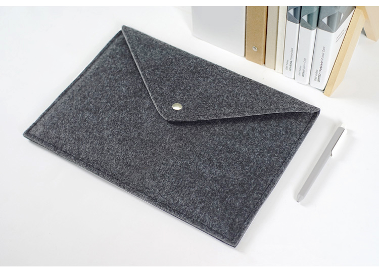 Harphia Chemical Felt File Folder Briefcase Document Bag Durable Folders Grey Envelop Bag School Office Supplies
