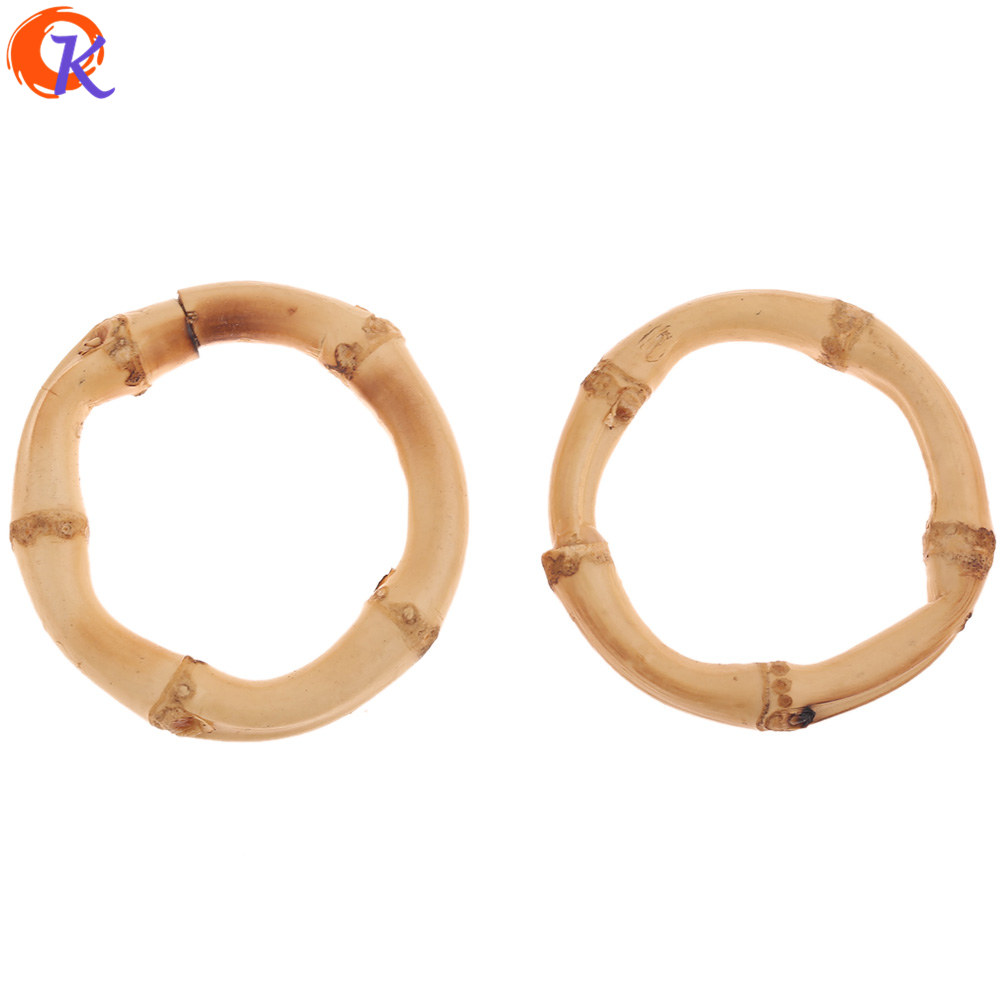 Cordial Design 20Pcs (About 45MM) Jewelry Accessories/DIY Making/Bamboo Rattan/Charm/Embellishments/Hand Made/Earring Findings