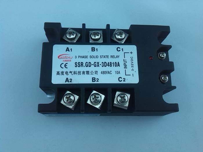 Factory supply DC TO AC 120A SSR Three phase Solid State Relay SSR ...